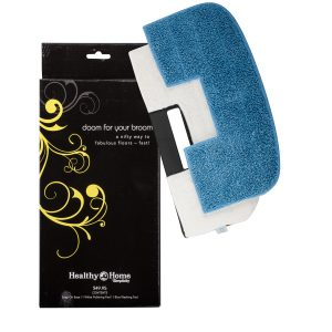 Doom For Your Broom Snap On Base 1 Blue Mopping Pad 1 White Polishing Pad Wonder