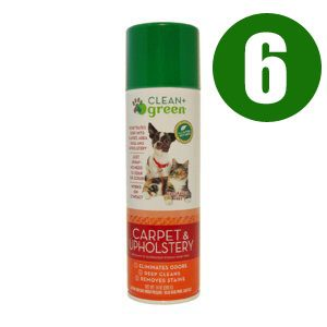 Clean + Green Carpet & Upholstery Pet Odor & Stain Remover 14 Oz. Case Of 6